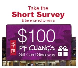 Pf Changs Sweepstakes - win a 100 pf changs gift card sweepstakes sweepstakesdaily com