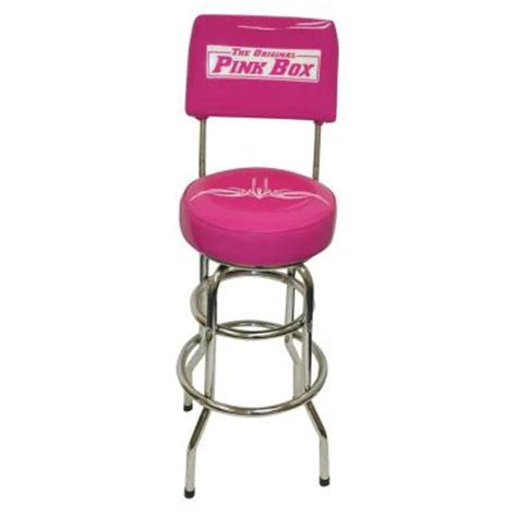 Garage Bar Stools by The Original Pink Box Swivel Backed Garage Bar Stool In
