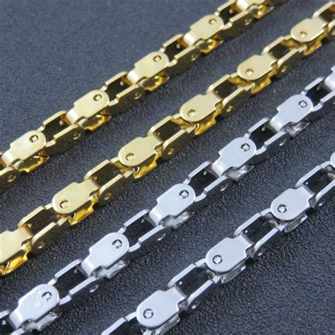 Baut L Stainless 6 X 50 316l stainless steel silver big heavy chain necklace 5mm 50cm 100cm customizes necklace