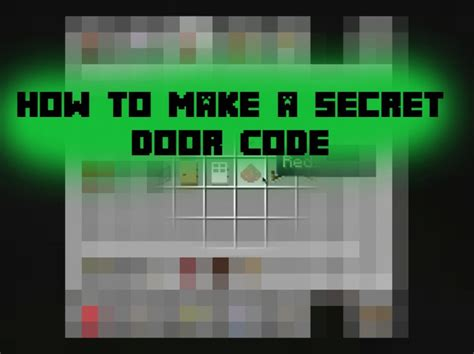 How To Make Door In Minecraft by How To Make A Minecraft Door Code Ponder