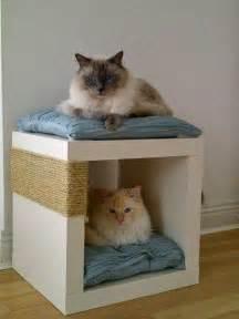 Bathroom Tower Shelves Expedit Double Decker Cat Snug Scratch Post Ikea Hackers