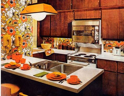 Orange Kitchen Wallpaper by Nightmare On Elm House Gets A Complete Makeover