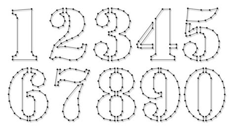 pattern between numbers string art pattern sheets numbers stencil number height