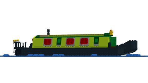 cartoon canal boat ship canal boat clipart