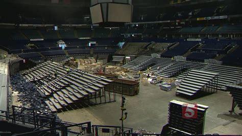 bridgestone arena seats new seats going in at bridgestone arena