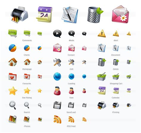 Icon Set awesome web icon set bundle