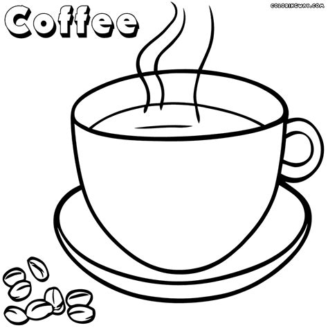 coloring sheet coffee coloring pages coloring pages to and print