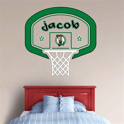 custom fatheads wall stickers boston celtics personalized name wall decal shop fathead