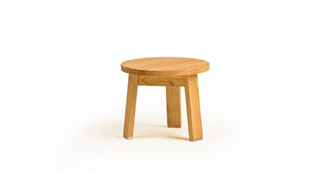 Sitting Stool by 440 Low Stool Shown In Oak