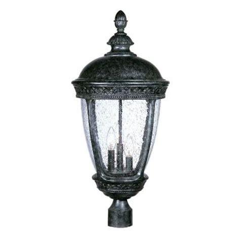 Discontinued Outdoor Lighting Acclaim Lighting Fleur De Lis Collection Post Mount 3 Light Outdoor Light Fixture