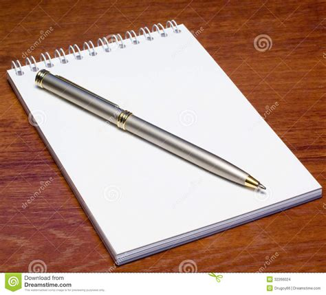 Pen Table by Notepad And Pen On Table Stock Images Image 32266024