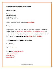 Transfer Letter To Bank How To Transfer Bank Account To Another Branch Letterformats