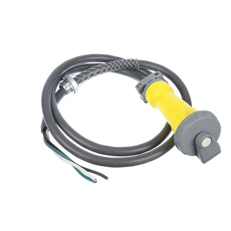 hubbell drop cord yellow 20a part 12360 0010