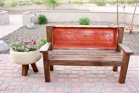 how to make tailgate bench rustic tailgate bench tutorial addicted 2 diy