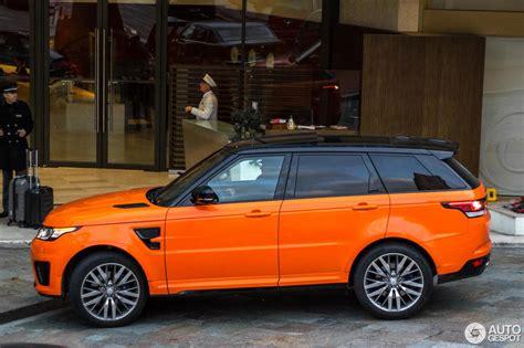 orange range rover svr land rover range rover sport svr 7 janvier 2016 autogespot