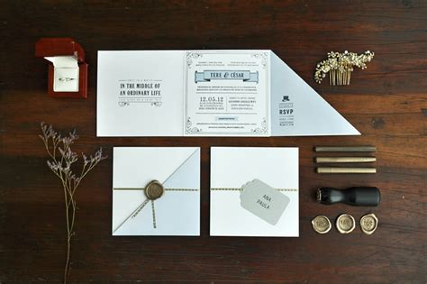 creative invitation tere c 233 sar s 1920s inspired letterpress wedding invitations