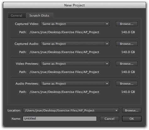 adobe premiere pro new project settings premiere pro cs6 berkeley advanced media institute