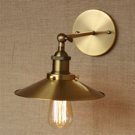loft l discount lighting antique gold metal wall l