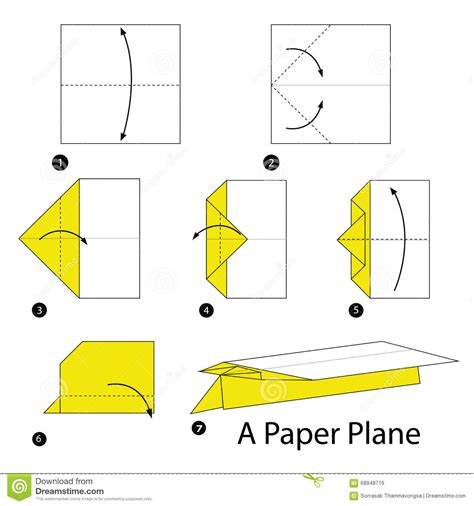 How To Make Paper Airplane Step By Step - step by step how to make origami a paper