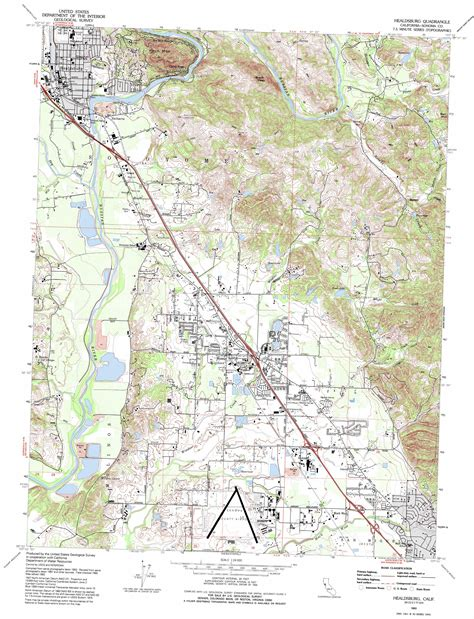 topographical map of southern california healdsburg topographic map ca usgs topo 38122e7
