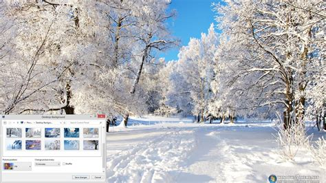 microsoft themes winter winter trees windows 7 theme download