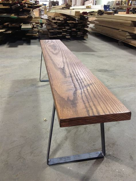 bench metal legs metal bench legs paired with reclaimed oak