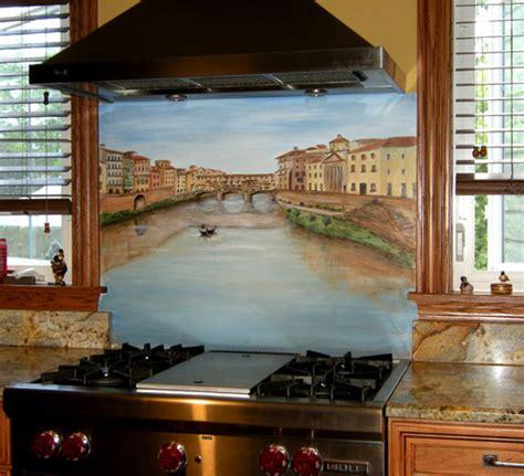 Painted Kitchen Backsplash   Hand Painted Kitchen