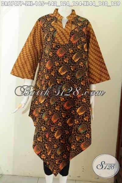 Baju Syifa Tunik Dr baju batik wanita buat pesta dress batik keren dengan