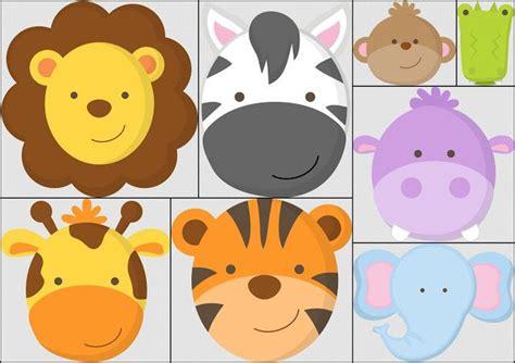 imagenes de animales bebes para baby shower caras de beb 233 s de la jungla animalitos pinterest