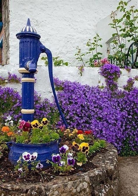 backyard water pump blue garden water pump awesome views pinterest