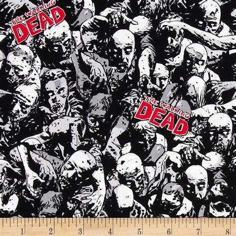 zombie pattern fabric the walking dead walking dead zombies gray discount