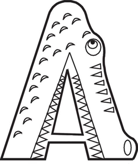 coloring page for letter a free coloring pages of abc for kindergarten
