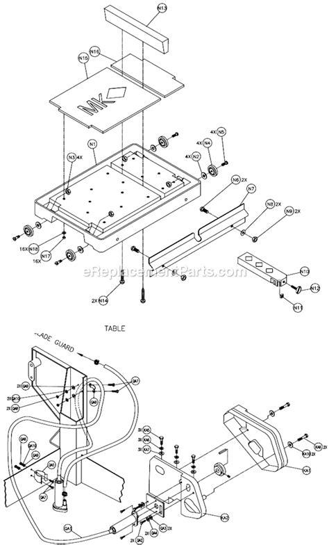 Jam Mk Cut mk mk 5013g parts list and diagram