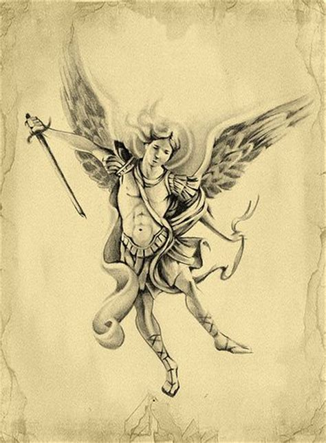 michael angel tattoo archangel michael archangel michael design