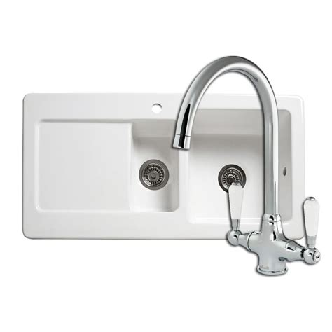 kitchen sink and tap reginox rl501cw ceramic sink elbe tap sinks taps com
