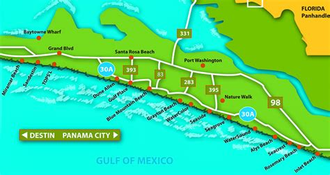 30a map living along scenic highway 30a fl somers company