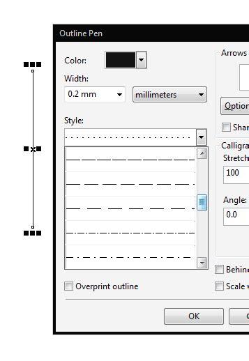 line thickness coreldraw x7 dashed line coreldraw graphics suite x7 coreldraw
