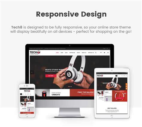 responsive layout iphone tech8 digital woocommerce theme woocommerce technology
