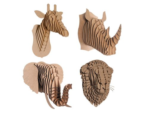 free cardboard taxidermy templates cardboard safari s cruelty free taxidermy kits bring your