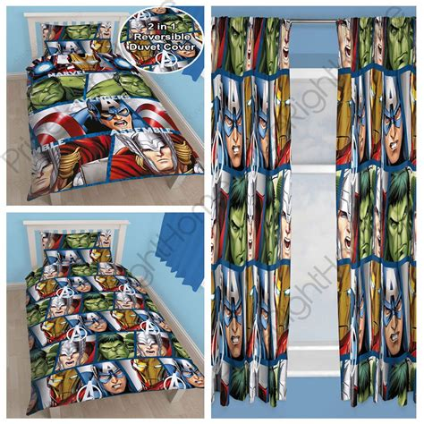 avengers curtains uk avengers shield single rotary duvet cover set matching