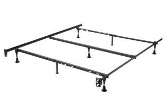Metal Bed Frame Dimensions 7 Leg Heavy Duty Metal Size Bed Frame With Center Support And Glides Only Ebay
