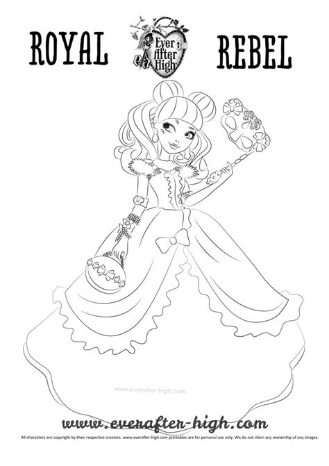 ever after high coloring pages thronecoming blondie lockes thronecoming coloring page ever after high