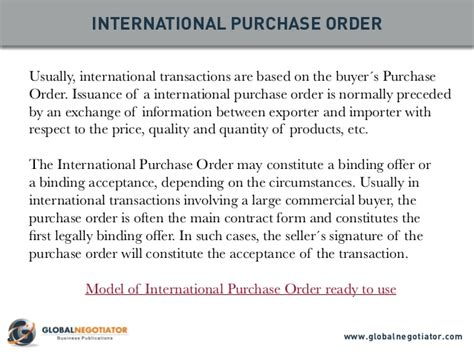 Official Purchase Order Letter International Trade Documents 10 Top Documents