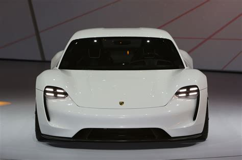 porsche mission e red porsche mission e takes aim at tesla