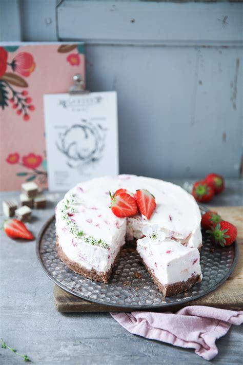 bake bake kuchen erdbeere cheesecake ohne backen zucker zimt und liebe