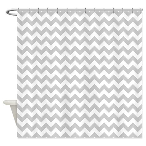 Gray And White Chevron Curtains Gray And White Chevron Shower Curtain By Thechicboutique85
