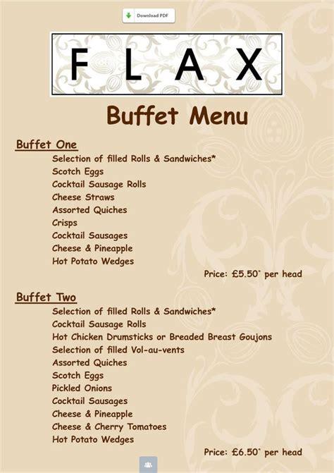 Flax Buffet Menu Party Ideas Pinterest Buffet Menu Ideas For