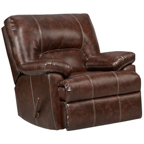 Rocking Leather Recliner by Exceptional Designs Cheyenne Cafe Leather Rocker Recliner