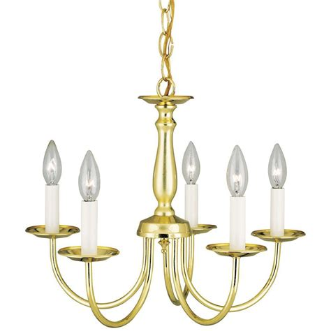 westinghouse 5 light polished brass interior chandelier