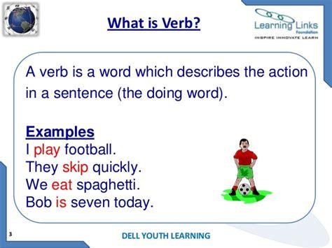 Is S Verb verb kinds of verbs